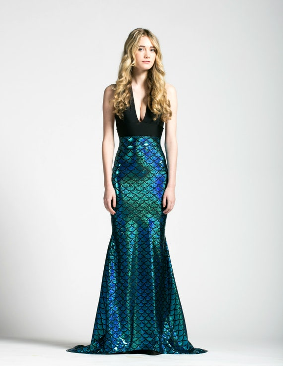 mermaid maxi skirt caribbean turquoise