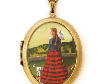 Art Locket - The Quiet Country Life - Portrait Oil Painting Reproduction Art Locket Necklace