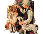 Making Friends, Jazz It Up - Large Norman Rockwell Print - 1979 Vintage Book Page - Saturday Evening Post Cover - 14 x 12