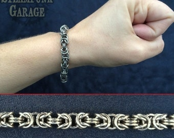 18g SMALL Byzantine - Stainless Chainmaille