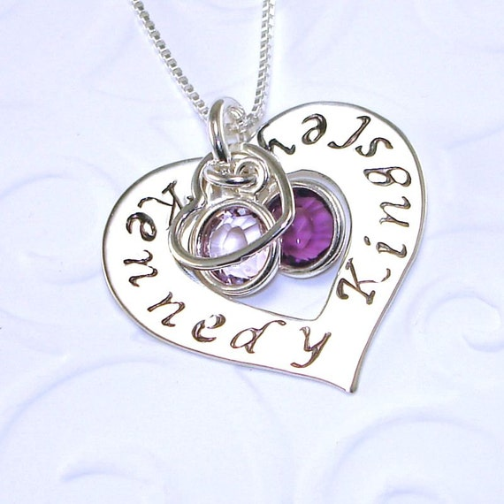 Mommy necklace sterling silver hand stamped jewelry personalized 1