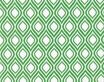 Sale fabric, 6 dollars per yard sale, Green fabric, Metro Living fabric- Mod Stencil in Kelly- Fat Quarter to Yards. Choose the Cut