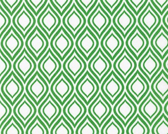 Sale fabric, 6 dollars per yard sale, Green fabric, Metro Living fabric- Mod Stencil in Kelly- Fat Quarter to Yards. Choose the Cut