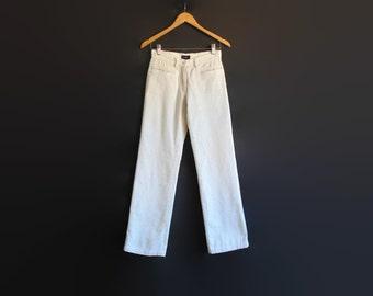 Corduroy Pants, Ivory White Jeans, 90s Clothes, Vintage Pants, Size US 10 Women, Long Pants, Womens Trousers, Second Hand Clothes, 90s Pants