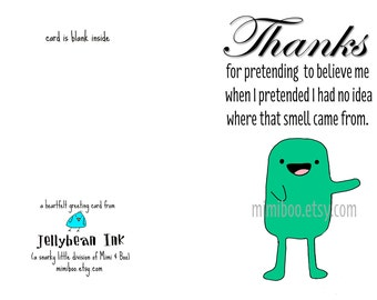 Thanks Thank You funny snarky digital download greeting card