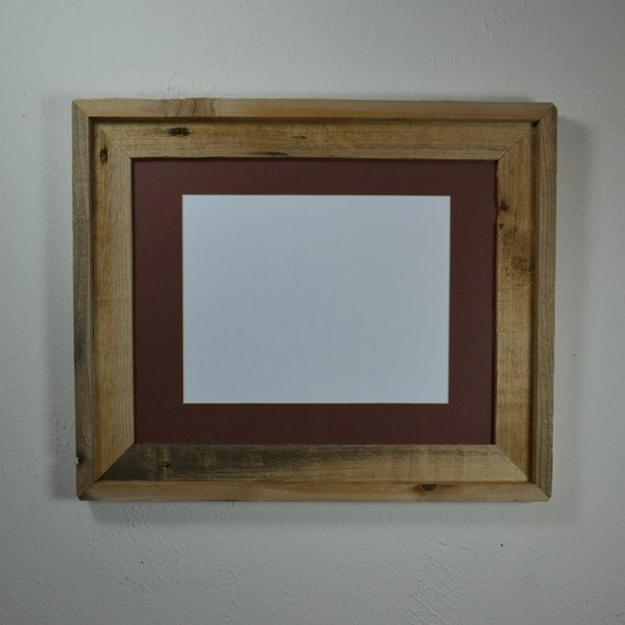 11x14 Frame With Natural Patina And Mat For 8x10 Or By