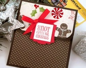 Christmas Gift Card Holder - Do Not Open Until Christmas Card - Holiday Money Holder Card