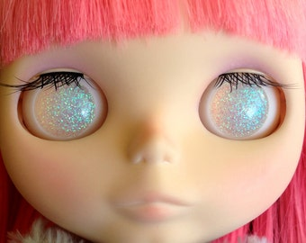 Crystal White Resin Eye Chips for Blythe or Pullip Dolls - Two Sizes Available - Pre-Order