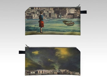 Zipper Pouch Pencil Case - at least there was hope - digital print collage art by livingferal