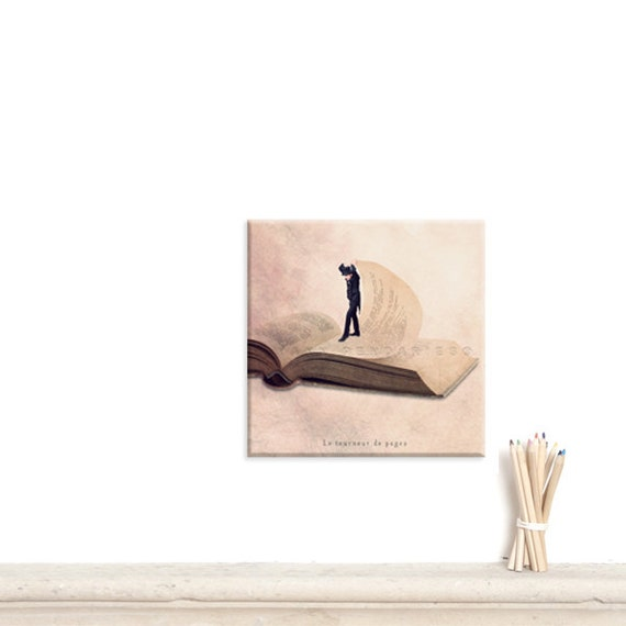 canvas print, Canvas Gallery Wrap, Wall Art Canvas, Book print, Books wall art, Living room decor, Fun print, Book themed gift