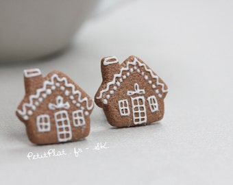 Gingerbread House Earrings - Christmas Cookies - Christmas Collection