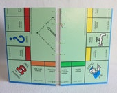 Monopoly Journal Recycled Game Board Book by PrairiePeasant