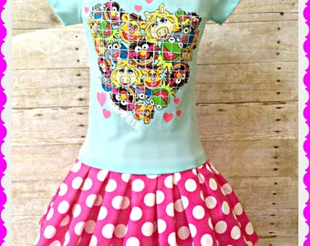 Girls Muppet Movie dress Muppets dress 6/6X ready to ship