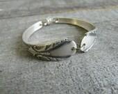 Silver Spoon Bracelet, Avalon 1940 Pattern, Silverware Jewelry