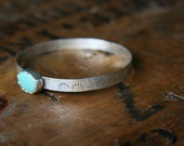 Green Turquoise Sun and Tipi // Teepee Bangle