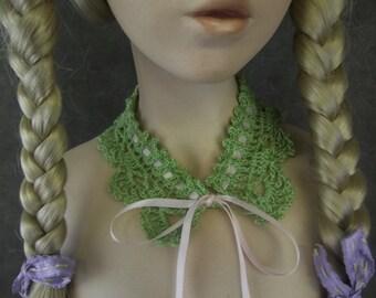 Soft Green Collar,Crochet Lace Collar,Crochet Collar, Cotton Collar, toddler collar, tween collar, crochet girl's collar