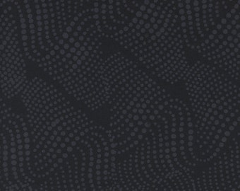 Batik Black Dots Blender Island Batik Fabric 1 yard