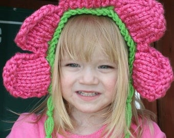 Sale-Ready to Ship- Pink Petal hat-2T to 12month photo prop