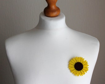 Acrylic Sunflower Brooch