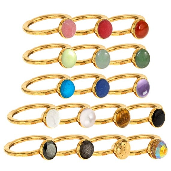 Cabochon Stackable Rings