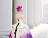 """Ombre Fairy Wedding Dress - High Low Dress Steampunk Fairy Masquerade Costume - Unique Wedding Dress """"Ombre Fairytale Gown"""" Custom to Order"""