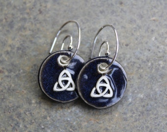 Black Trinity Earrings