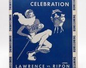 Ripon College vs Lawrence Centennial Homecoming Football Program 1946 Wisconsin 11132