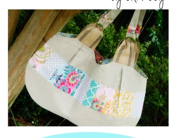 Large Purse Pattern, XL Tote Purse, Diaper Bag Pattern PDF Sewing Pattern Ebook Sewing Tutorial, Digital File|Sewing Pattern-DIGITALdelivery