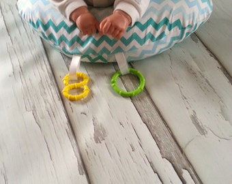Organic Tummy Time Pillow, Ombre Chevrons