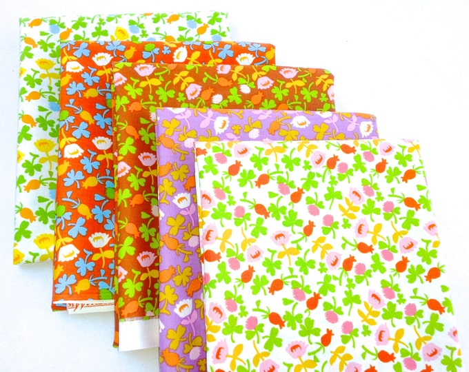 Briar Rose Cotton Fabric by Heather Ross, Calico Fat quarter set of 5