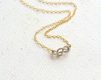 Sailor's Knot Necklace - gold knot necklace, silver knot necklace, nautical rope knot necklace, sailors knot, N25/N26/N27