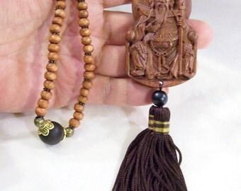 Rosewood Duke Guan Guan Gong Yu Yun 108 Prayer Mala Ornamental   Brown  little Leaf Boxwood Beads
