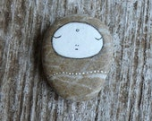 Beach Stone Jizo Bodhisattva - Meditation, Calm, Healing, Peace, Peaceful, Serenity, Love, Contemplating, Inward, Inner Child, Buddhism