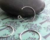 5 pair Sterling Silver Ear Wires - 22 gauge round sans serif Handmade by PeaceDoveDesigns