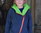 Zander's Hoodie & Hooded Vest (3M-18) Downloadable .PDF Sewing Pattern/E-Book