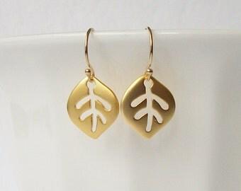 Aspen Leaf  Dangle Earrings Valentine