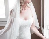 Juliet Cap Veil, Wedding Veil, 1920s Vintage Veil, Kate Moss Veil, Bridal Veil, Cathedral Veil, Fingertip Veil, Bohemian Veil, Style 1108
