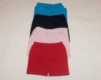 Cotton Leggings, 18 inch Doll Pants, American Made, Girl Doll Clothes, Blue Black Pink Red,