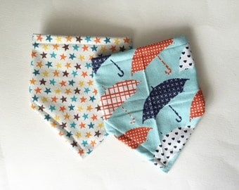 Bandana Bib for Baby, Rainy Day Bibdana Set, Baby Shower Gift