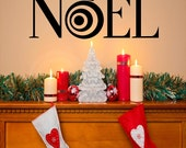 NOEL with Ornament Chistmas vinyl lettering wall decal sticker diy projects home decor super saturday