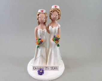 Custom Made Same Sex Couple Wedding Cake Topper