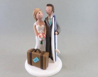 Bride & Groom Custom Handmade Wedding Cake Topper