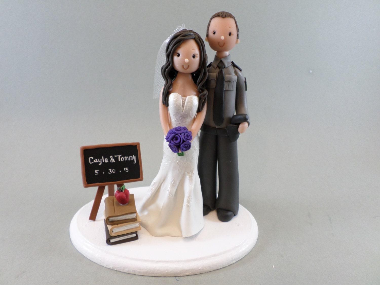Police Officer Amp Teacher Custom Wedding Cake Topper