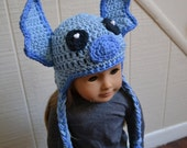 18 inch Doll Clothes - Crocheted Beanie with Ear Flaps - Little Monster - MADE TO ORDER - fits American Girl
