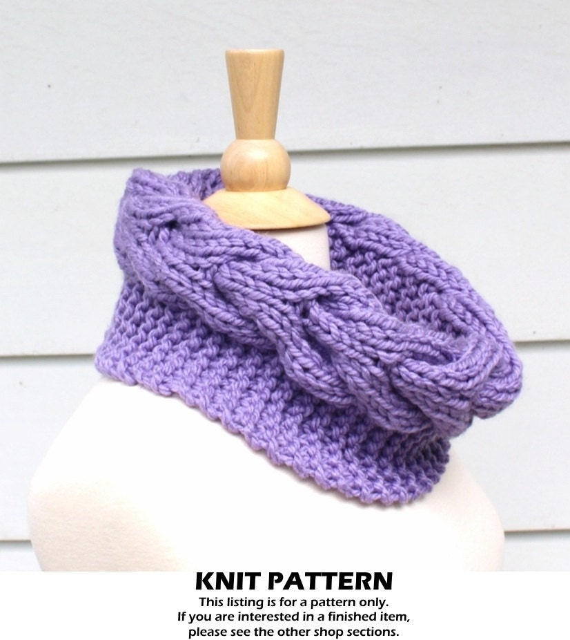 Circle Scarf Knitting Patterns : Knit cable cowl pattern knit circle scarf pattern
