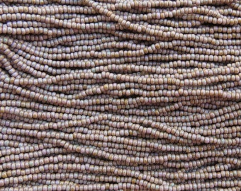 LIMITED 10/0 Opaque Light Purple Picasso Czech Glass Seed Beads 12 Strand Hank (DW159)