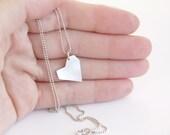 Reserved Listing for Sanja - Asymmetrical Heart Pendant