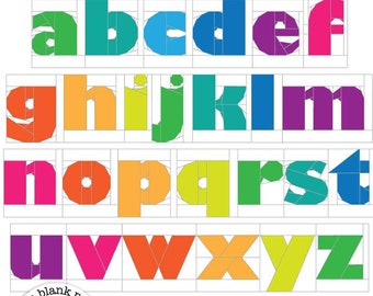 My ABC's Lowercase #214.2 Alphabet Paper Pieced Quilt Pattern PDF