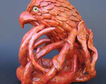 Fiery ... Hawk/Eagle/Falcon Mascot Statue