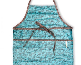 Apron , Smock , Laminated , Adult , Unisex , Teen , City Life